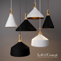 loft milky light 3D model