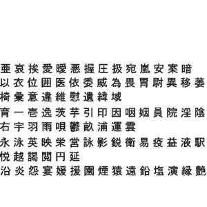 3D chinese characters set1