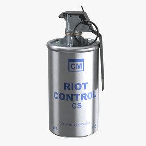 tear gas canister 02 3D model