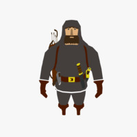 low-poly eskimo 3D