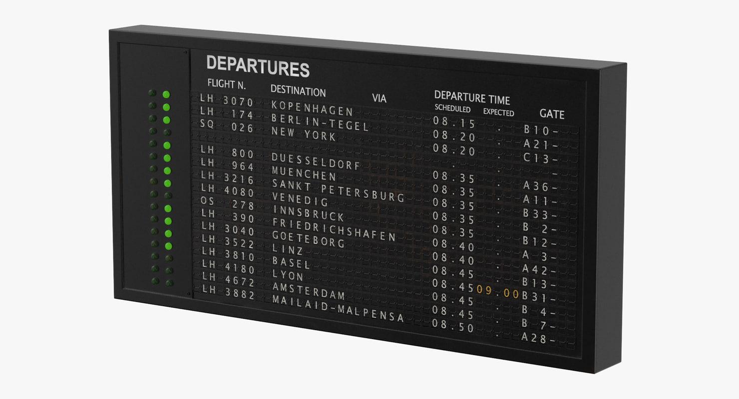 old flight information board model