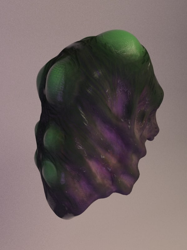 3D model alien brain