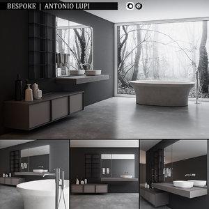 3D bathroom furniture set bespoke model