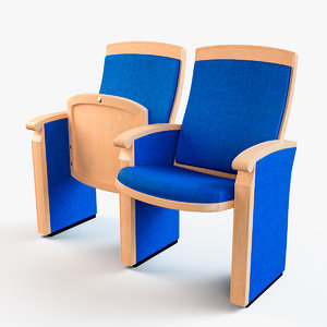 3D model theatrical chair