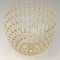 - gold silver 3D model