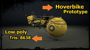 hover bike prototype 3D