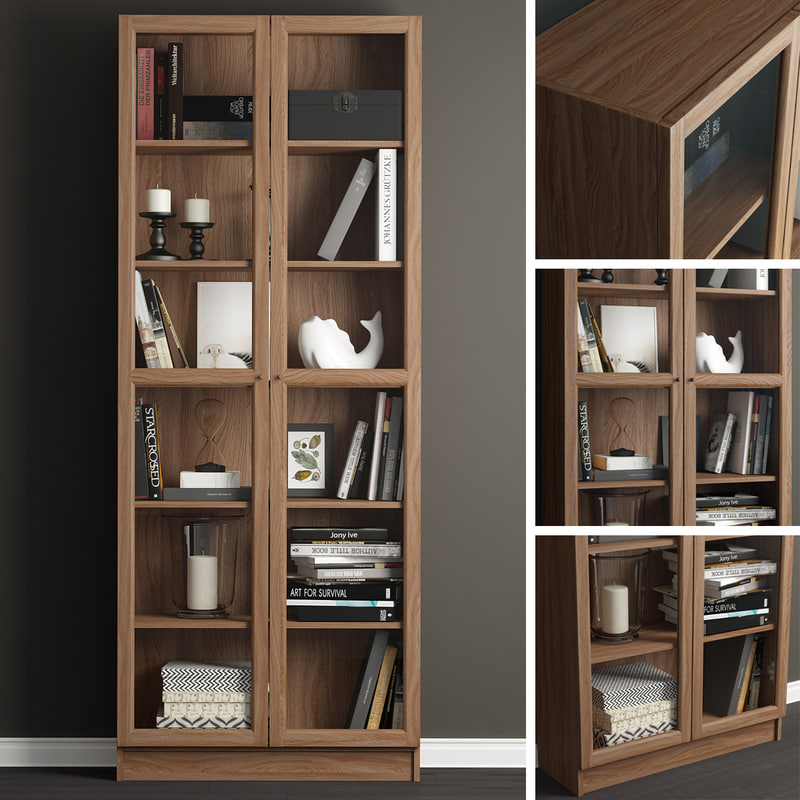 3D model decor billy oxberg bookcase