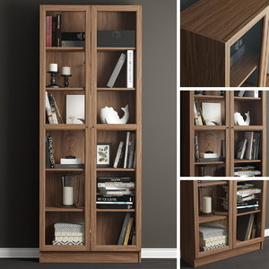 3D model decor billy oxberg bookcase