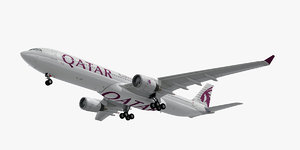 3D airbus a330-300 qatar airways
