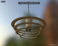3D model dirty modern chandelier