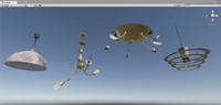 4 chandeliers 3D model