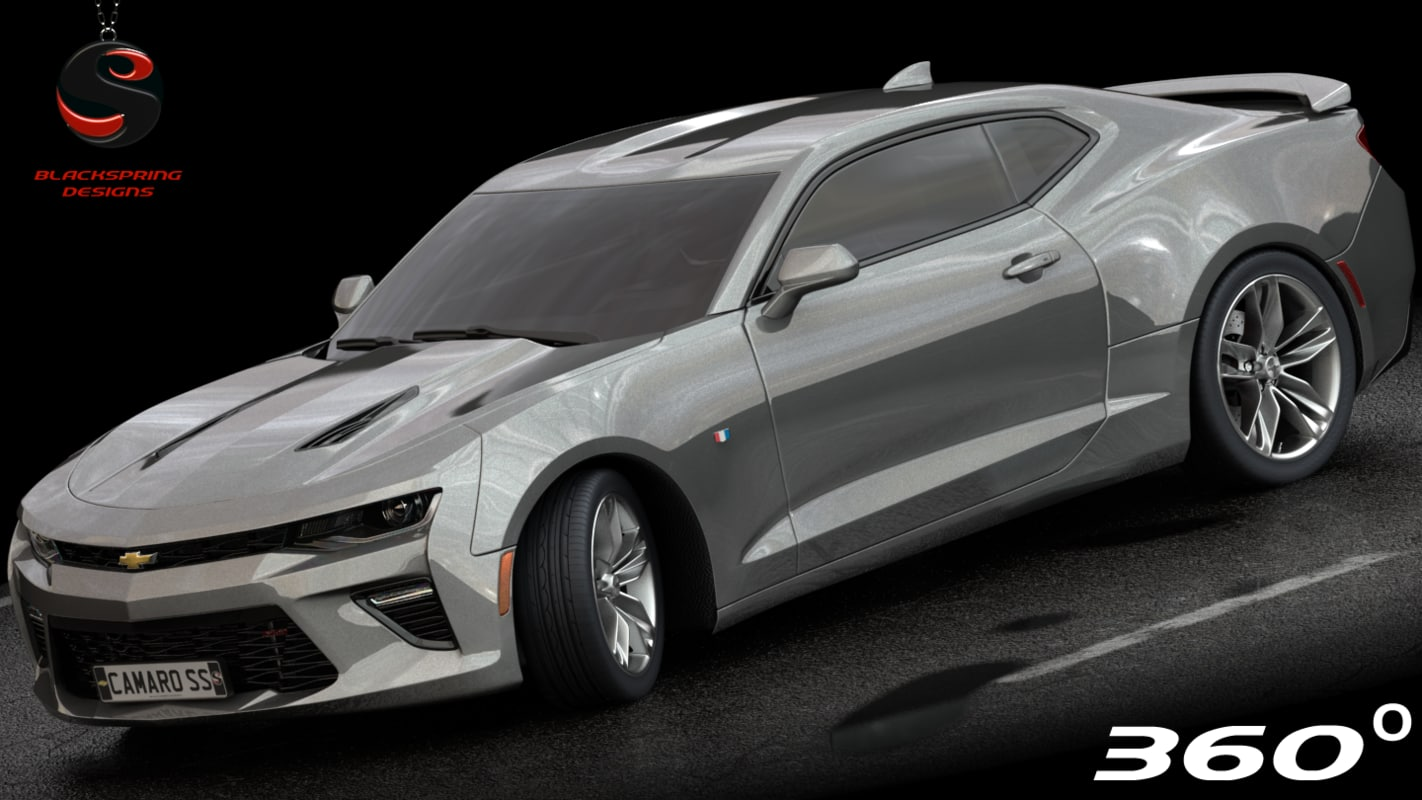 chevrolet camaro ss 2017 3d model 1145485 turbosquid. Black Bedroom Furniture Sets. Home Design Ideas