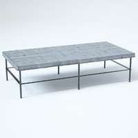 3D rowen bluestone rectangular coffee table model