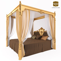 Silik Venre King Size Bed with Canopy