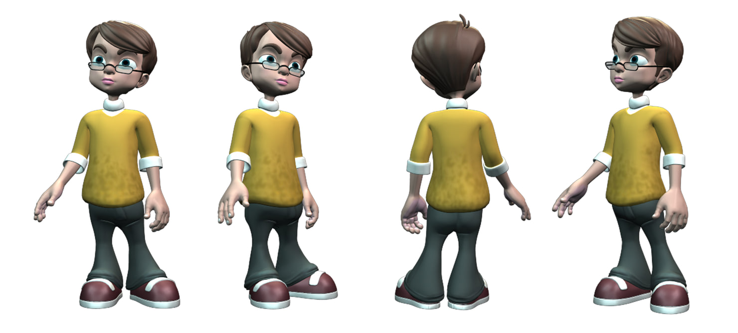 robert cartoon rigged 3D model