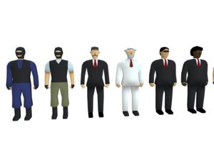 characters low-poly 3D model