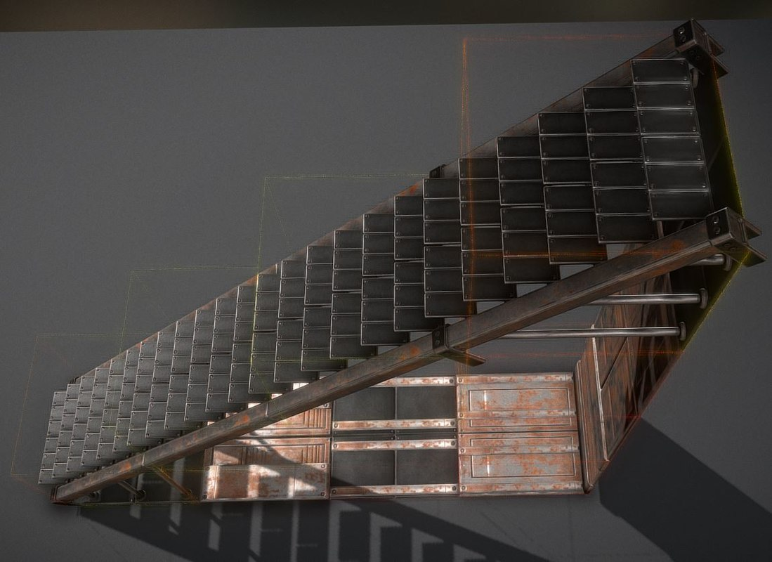 rusty stairs model