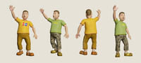 3D joy cartoon rigged
