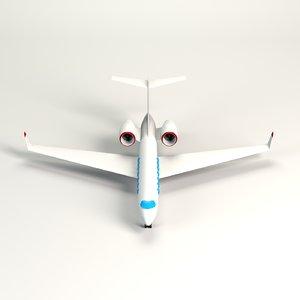 3D cartoon toon jet model