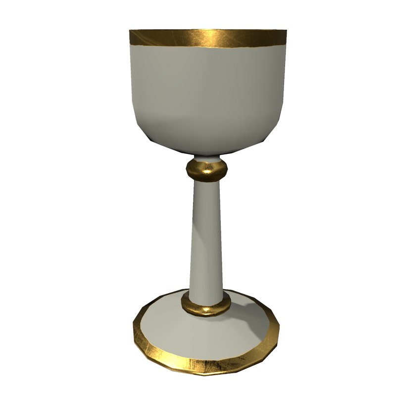 gold ceremonial cup model