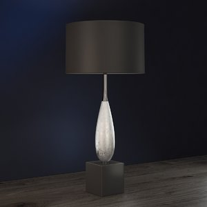 3D solomon silver table lamp