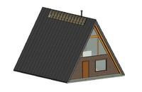 3D a-frame cabin model