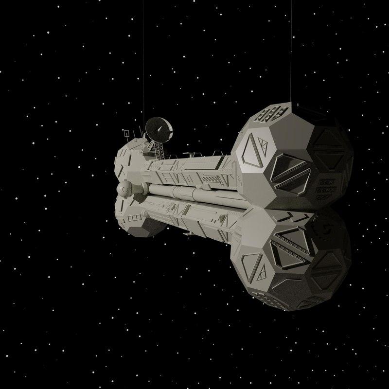 mystery satellite love 3D model