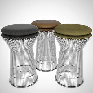warren platner stools 3D model