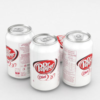 3D everage dr pepper diet model