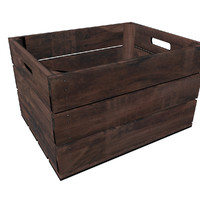 3D wooden crate -
