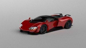 3D model car concept 2017