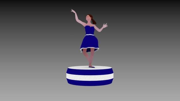 dancing ballerina 3D model