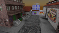 3D model dead-end alley