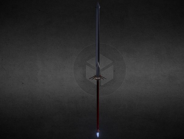 glaive 3D model