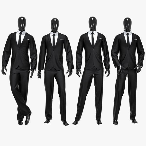 3D male suit model