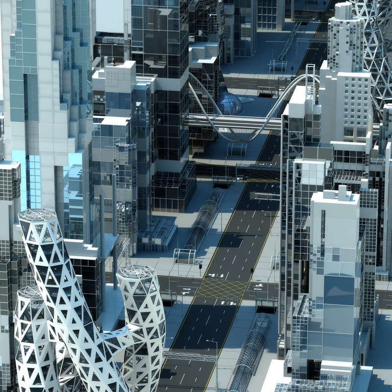 future city building 3D model