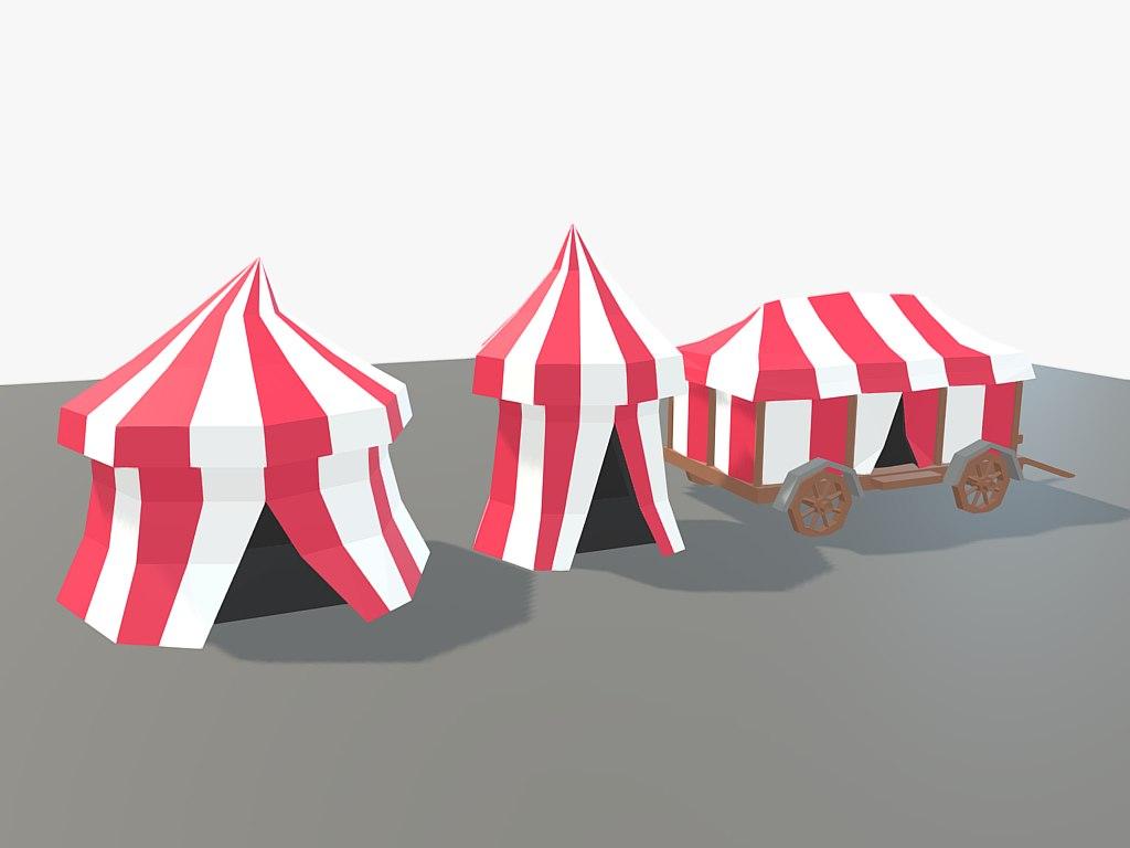 3D cartoon tent