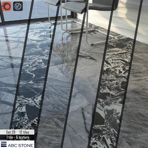 tile abc stone set 3D