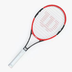 tennis racket wilson prostaff 3D model