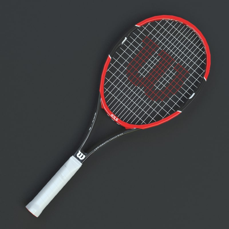 tennis racket wilson prostaff 3d model 1145627 turbosquid. Black Bedroom Furniture Sets. Home Design Ideas
