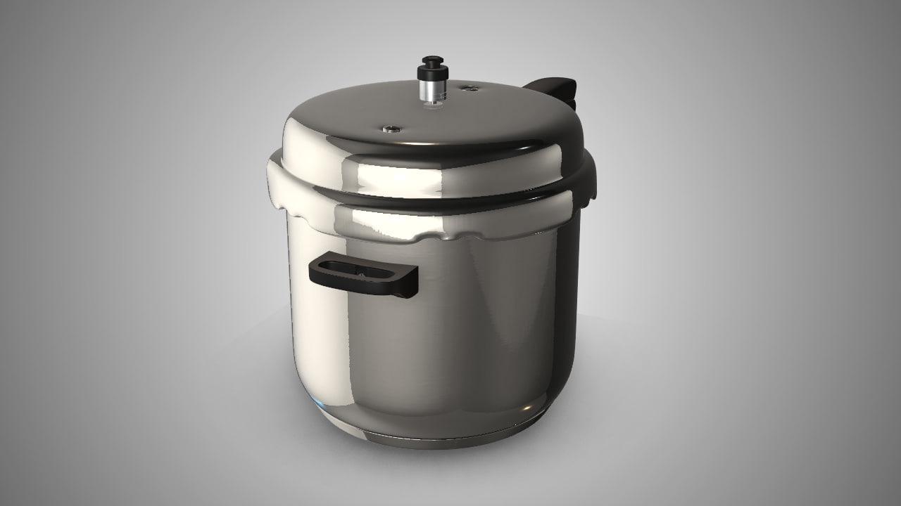 kitchen pressure cooker 3D model