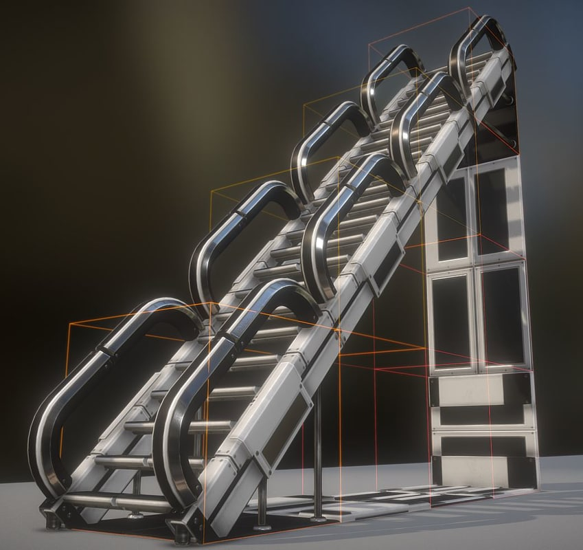 3D modular stairs white plastic