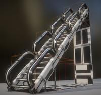 3D modular stairs white plastic