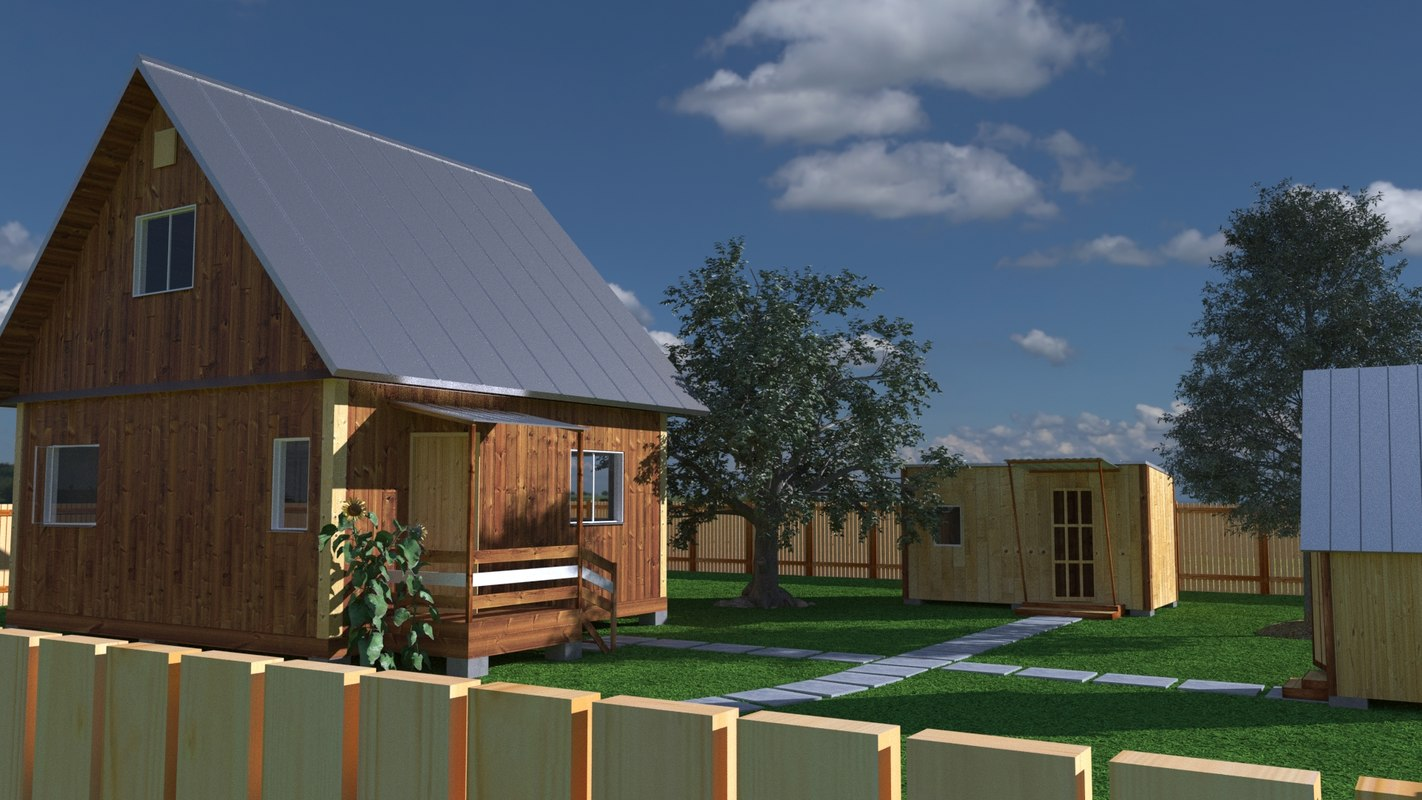 3D model country house
