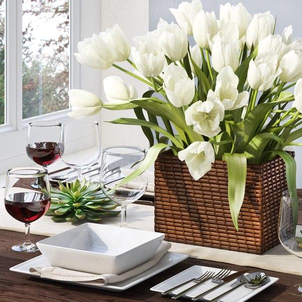 3D model tableware tulip