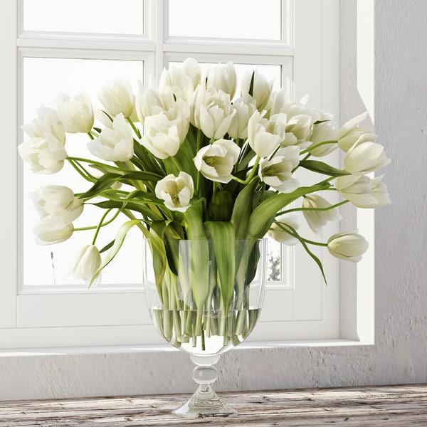 tulip centerpiece model