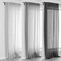modern curtain 3D