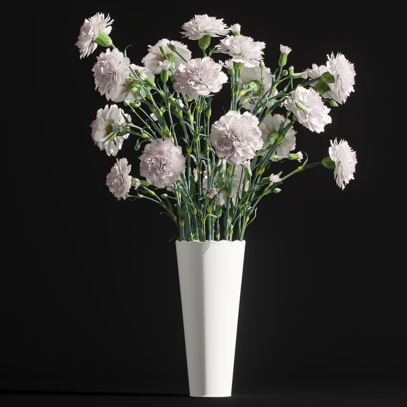 cornation bouquet 3D model