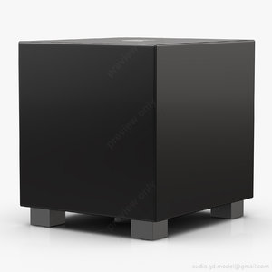subwoofer rel tzero gloss 3D model
