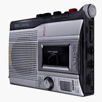 cassette player 3D model